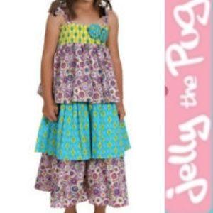 Jelly the Pug Maggie Maxi Dress   Purple